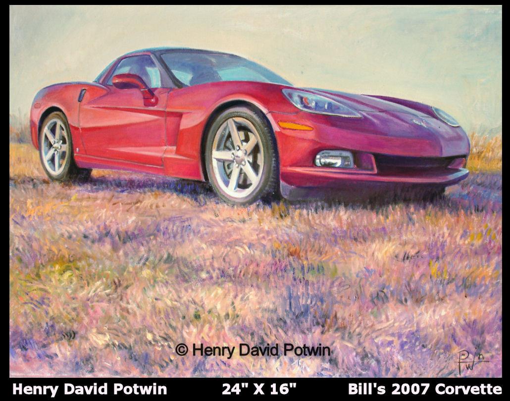 "Bills 2007 Corvette  - 2008 24X16"""