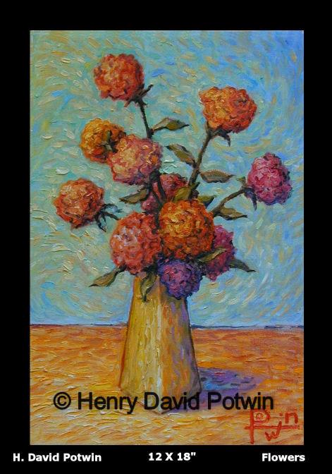 """Flowers  - 1990's 12X18"""""""