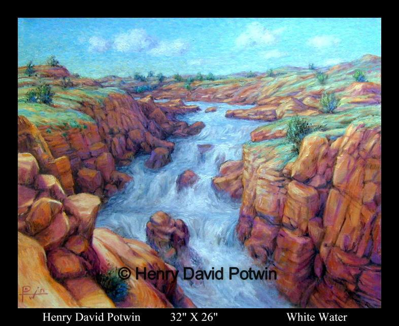 """White Water  - 1990's 32X26"""""""
