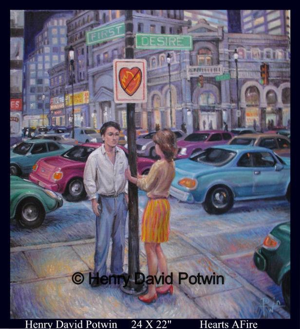 "Hearts Afire  - 2008 24X22"""