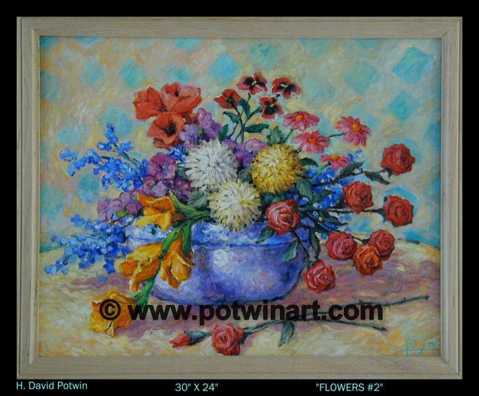 """Flowers 2  - 1990's 30X24"""""""