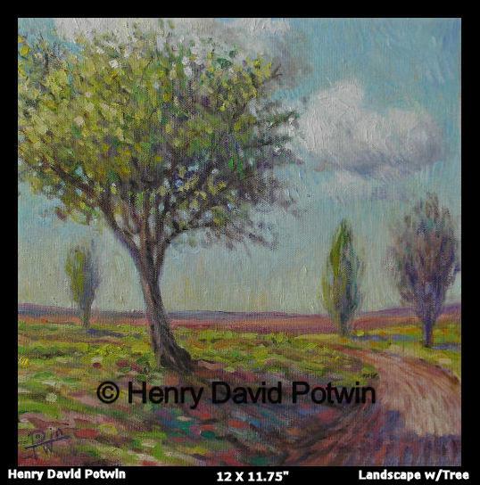 """Landscape w/ Tree  - 2006 12X12"""""""