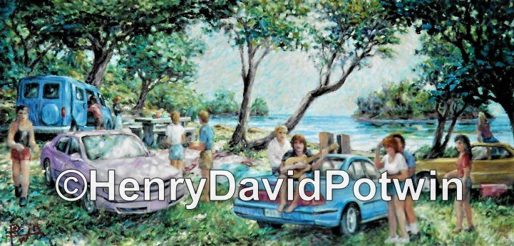 Party at the Lake - 2000-2001 18X36""