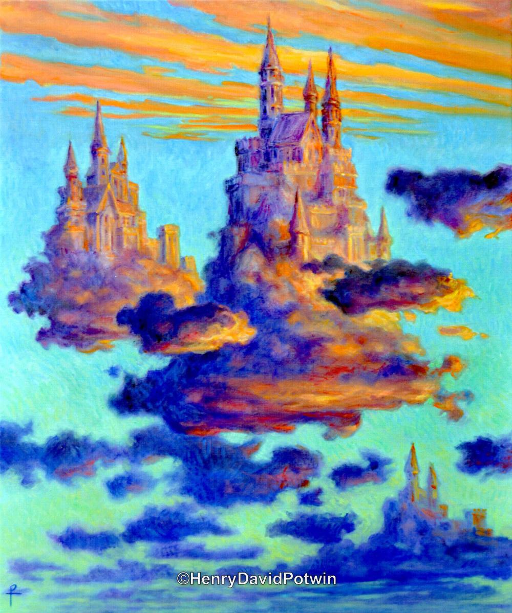 "Kingdoms of Clouds - 2017 36X30"""