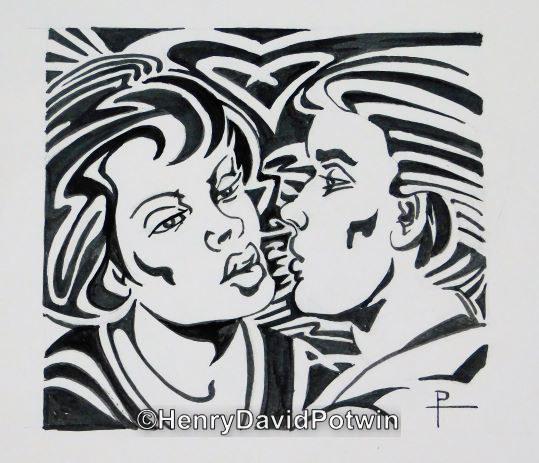 """Kissing -  7X8"""""""