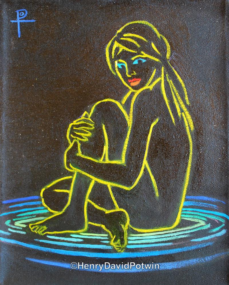 """Neon Girl - 2013 11X9"""""""