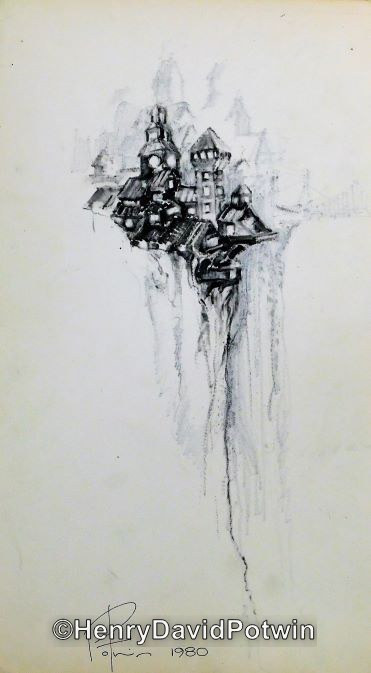Untitled (Clliff Structures)  - 1970-80 17X10""