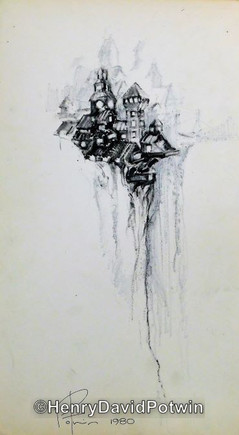 """Untitled (Clliff Structures)  - 1970-80 17X10"""""""