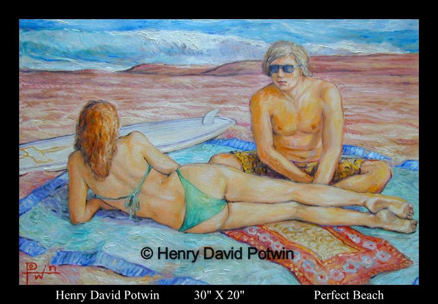 "Perfect Beach  - 1990's 30X20"""