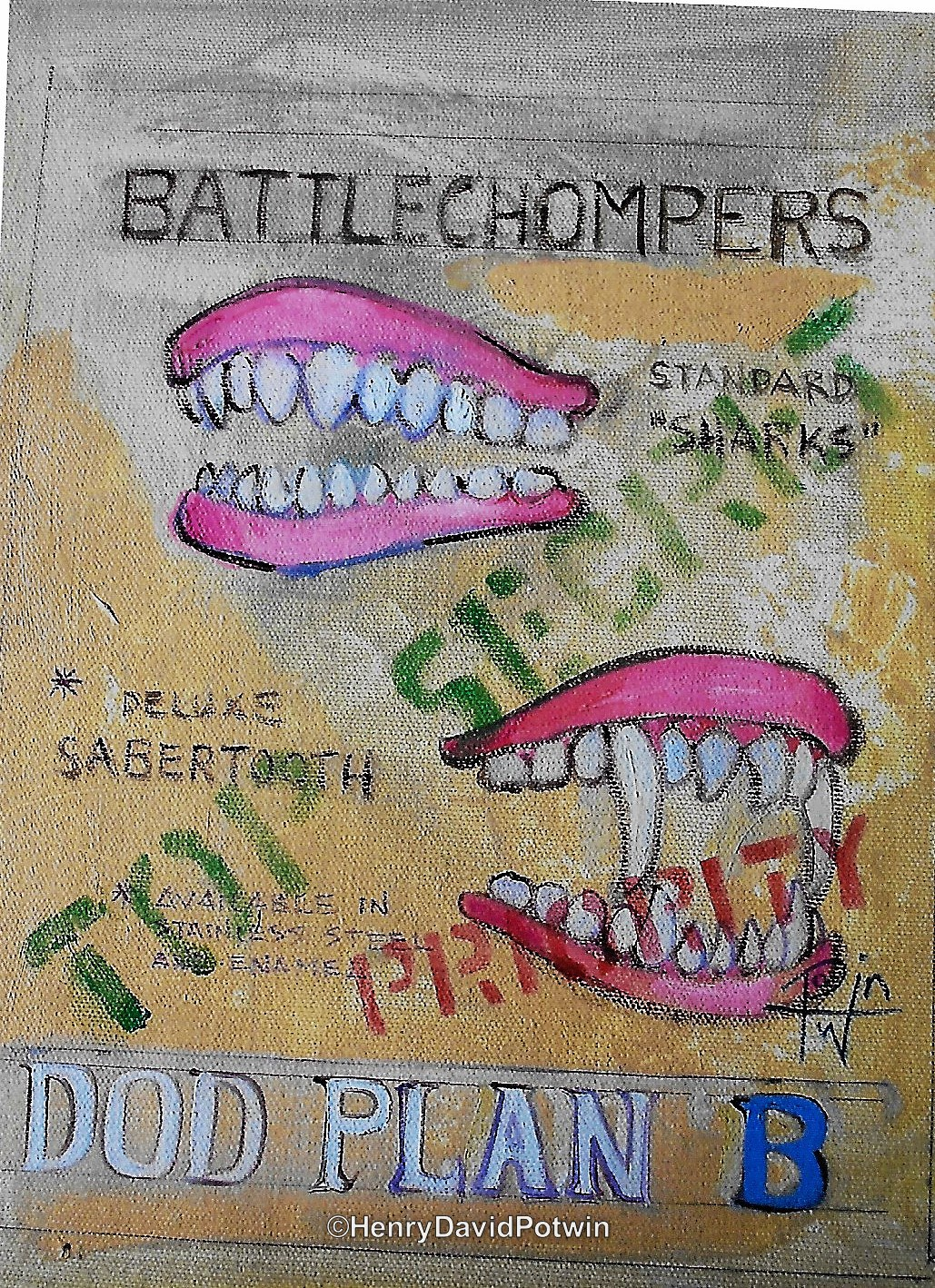 Battle Chompers  - 2011 8X11""