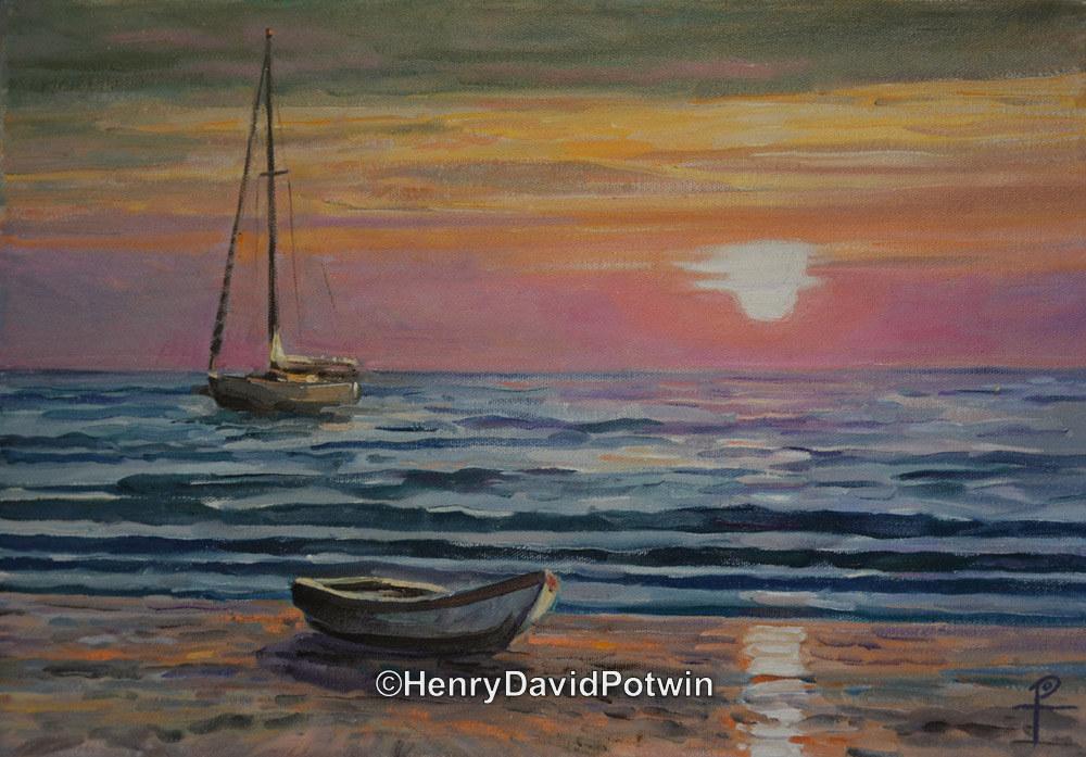 "Bolivar Sunset - 2013 11X16"""
