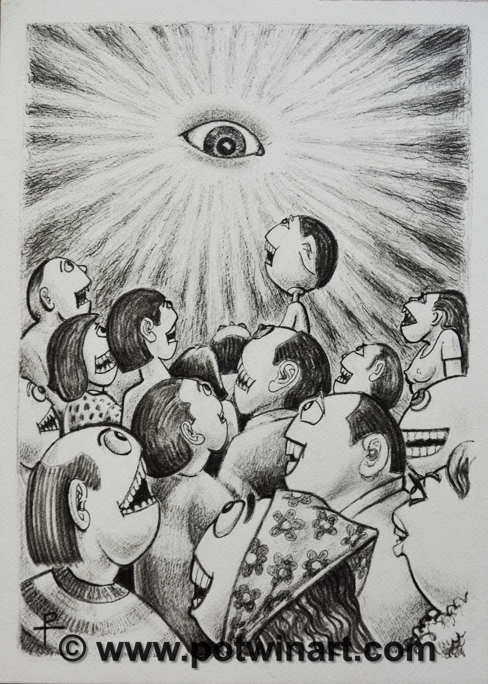 "Eye in the Sky - 2016 10X14"""