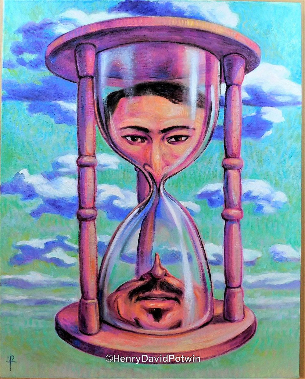 Facing Time - 2017 28X22""