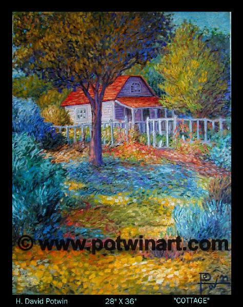 "Cottage  - 1990's 28X36"""