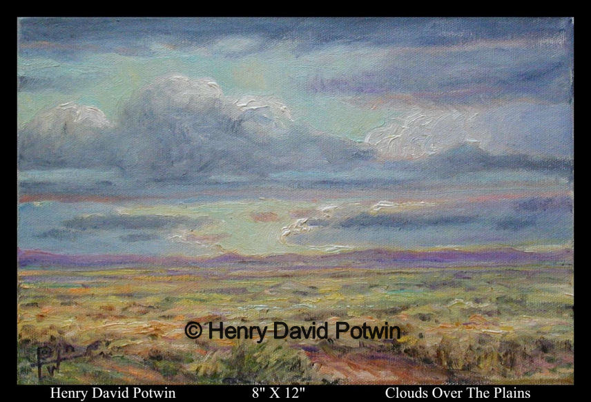 Clouds over the Plains  - 2000-2001 8X12""