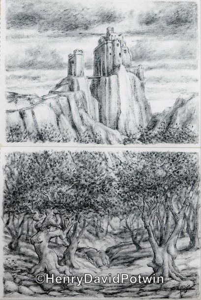 The Castle above the Forest - 2003 22X15""