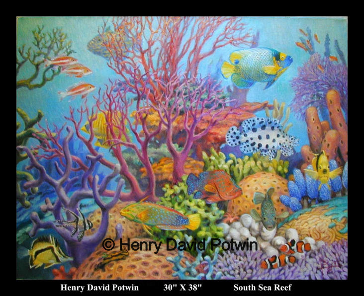 South Sea Reef  - 2003 30X38""