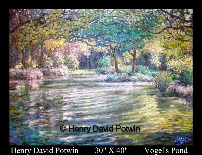 "Vogel's Pond  - 2002 30X40"""