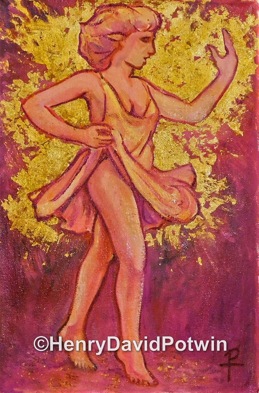 "Dancing Girl - 2015 12X8"""