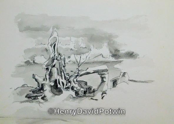 """Untitled (rocks)  -  10X14"""""""