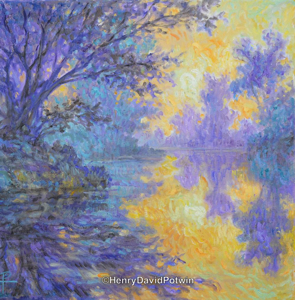 "Morning Mist - 2014 16X16"""