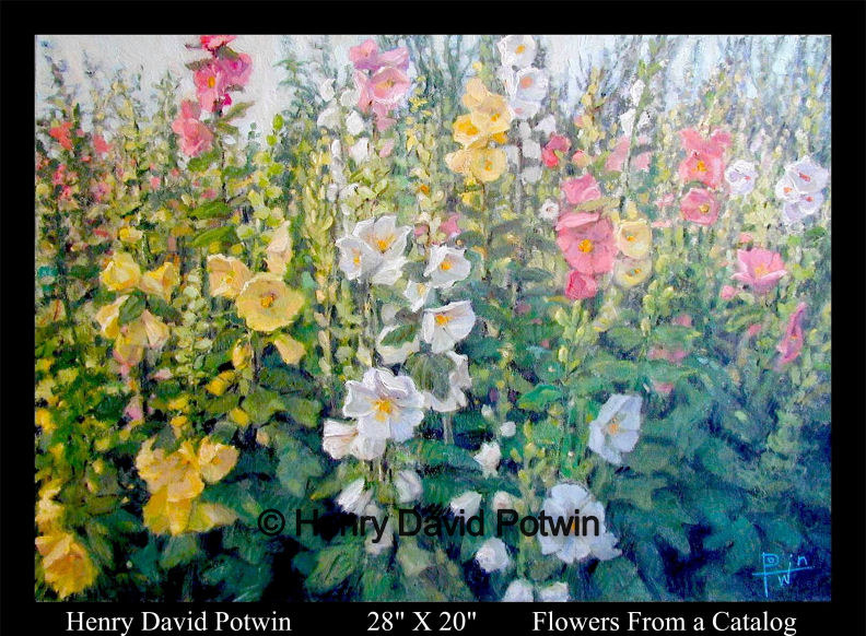 Flowers from a Catalog  - 2002 28X20""