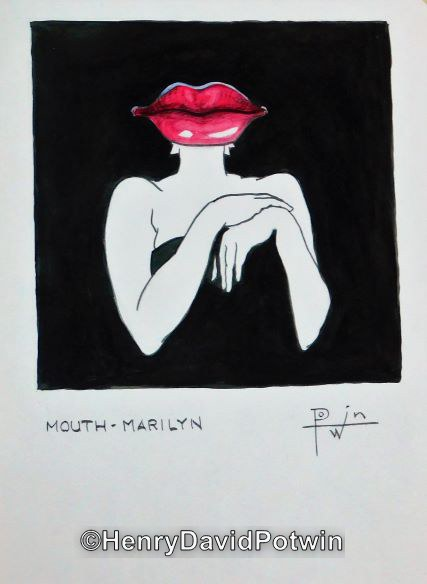 Mouth Marilyn - 2003 11X15""