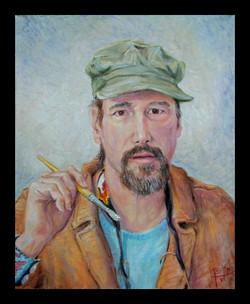 Self Portrait w Green Cap 20X16