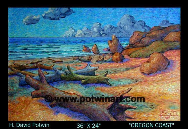 """Oregon Coast  - 1990's 36X24"""""""