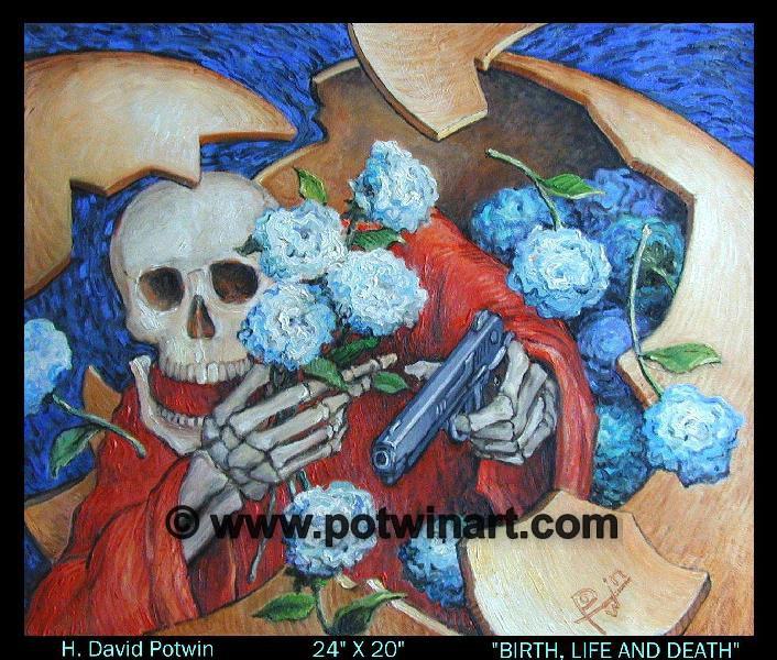 """Birth  Life & Death  - 1990's 24X20"""""""