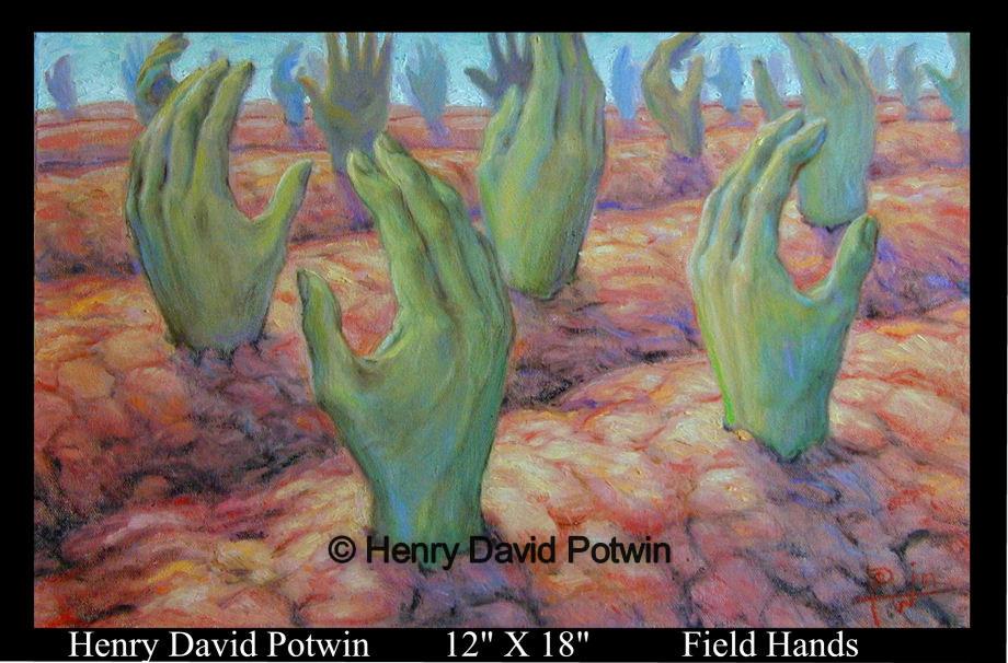 "Field Hands  - 1990's 12X18"""