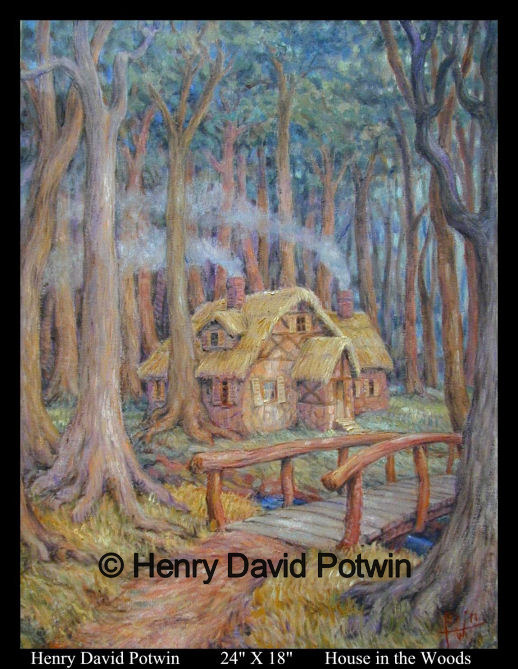 House in the Woods  - 2007 24X18""