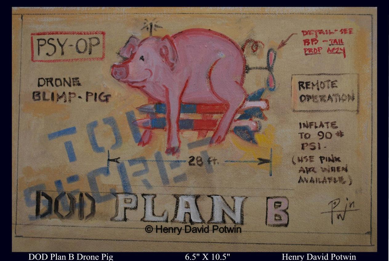 """Blimp Pig   - 2009 7X11"""""""
