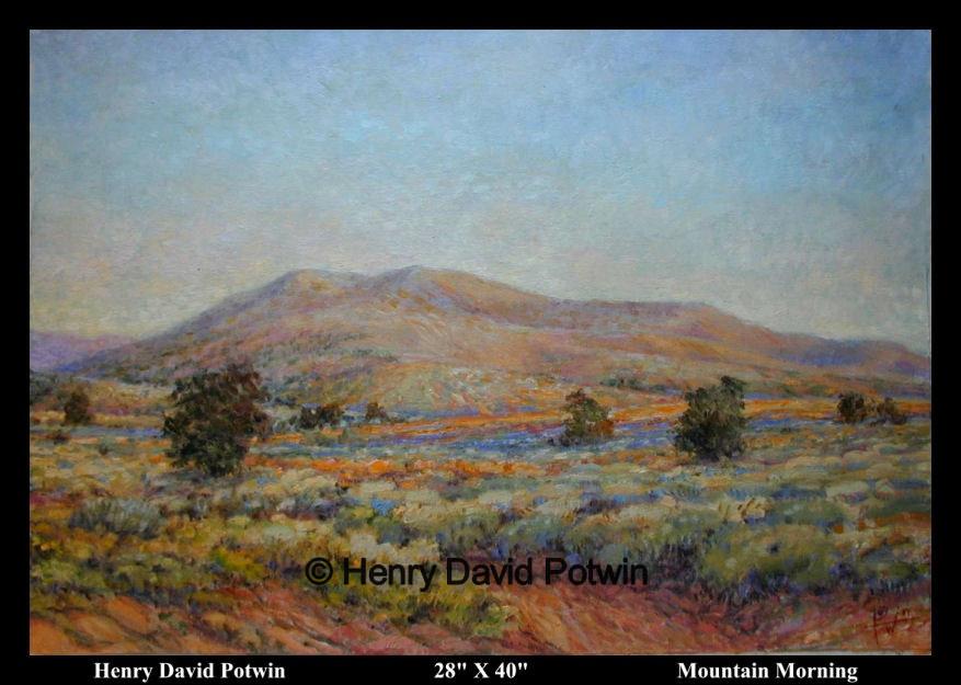 "Mountain Morning  - 2000-2001 28X40"""