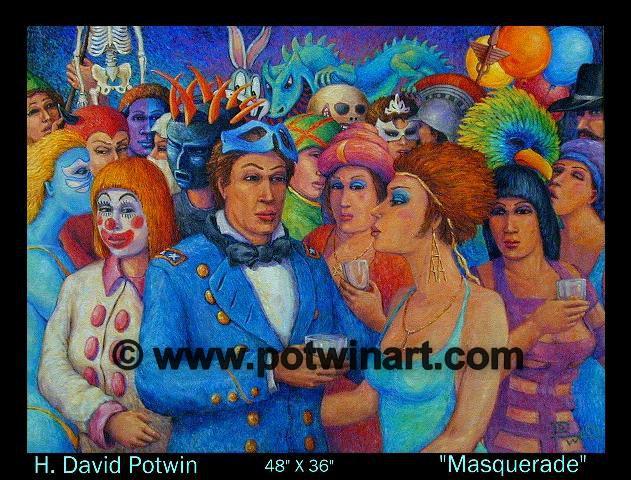 """Masquerade  - 1990's 48X36"""""""
