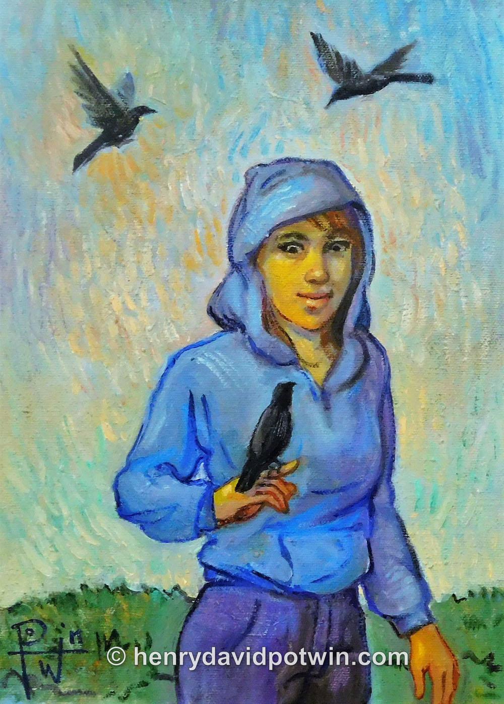 """Bird Girl - 2012 11X8"""""""