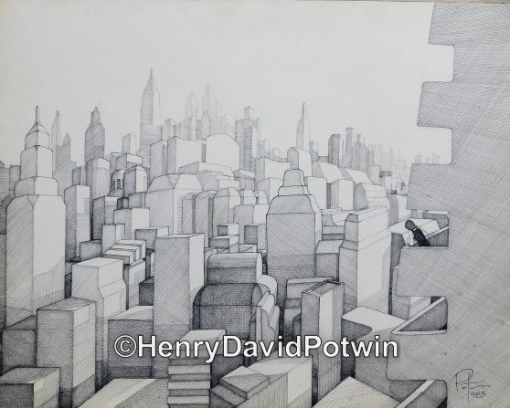 City without Windows - 1980-90 19X24""