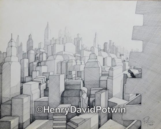 """City without Windows - 1980-90 19X24"""""""