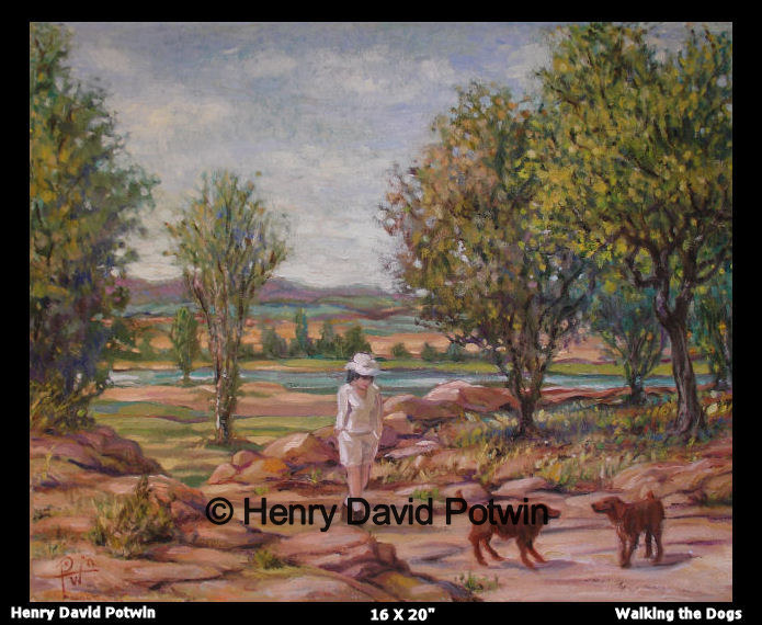 Walking the Dogs  - 2006 16X20""