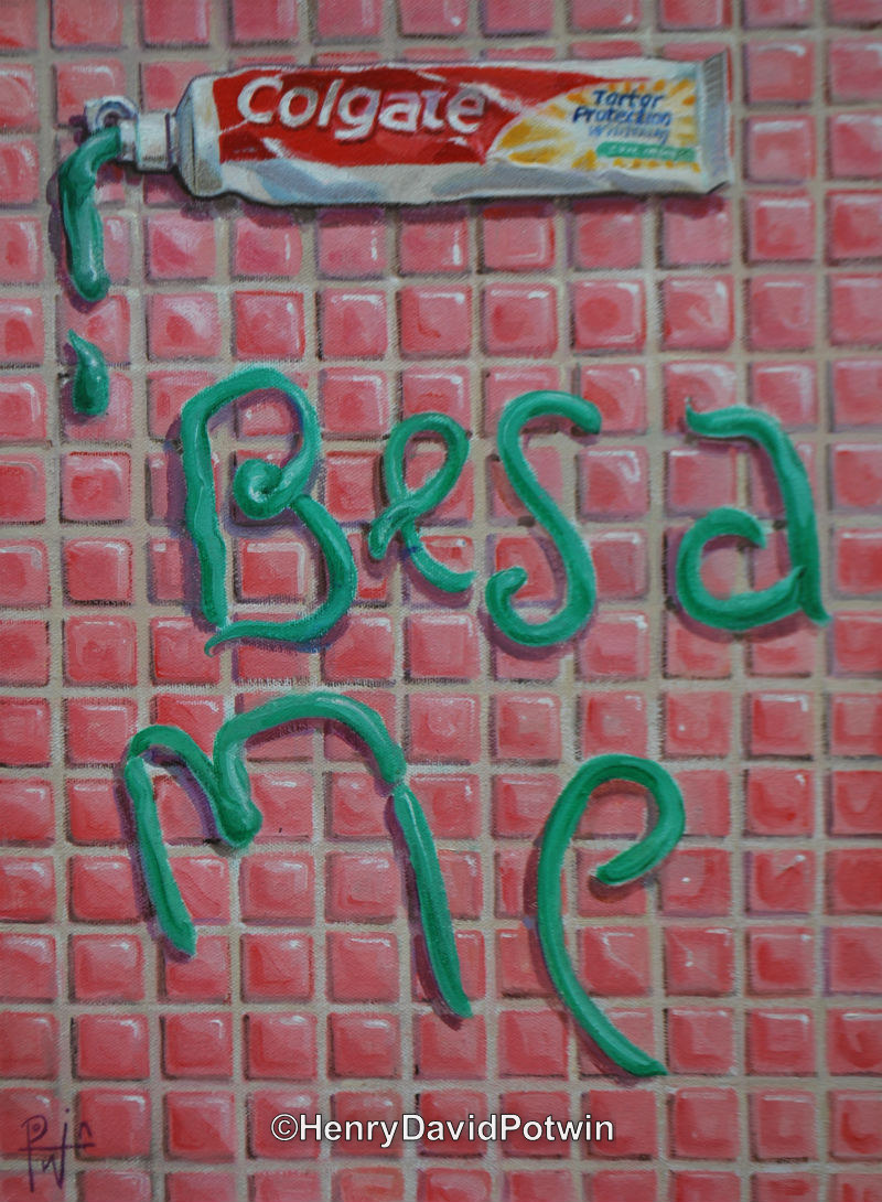 """Kiss Me - 2012 16X12"""""""