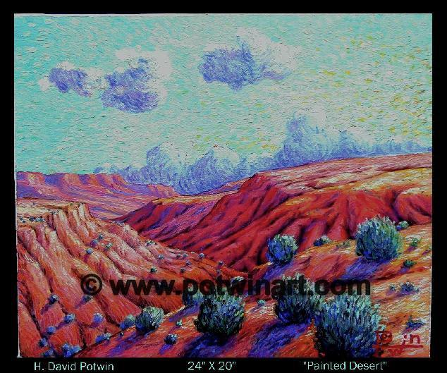 "Painted Desert  - 1990's 24X20"""