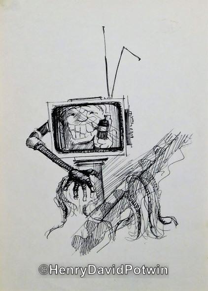 "Untitled (TV) -  10X7"""