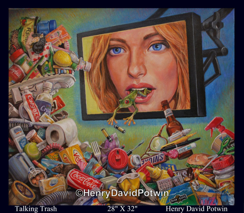 Talking Trash  - 2010 28X32""