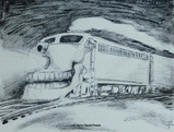 "Ghost Train2 - 2013 14X10"""