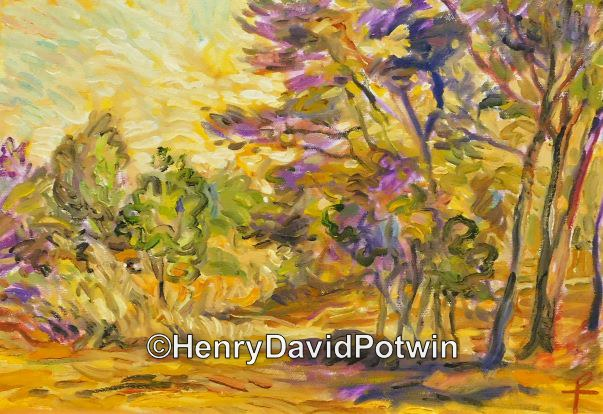 "Forest Landscape ( interpretation from J. Lievens ) - 2015 10X14"""