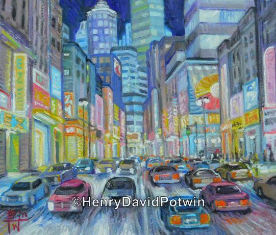 """City at Night - 2012 11X14"""""""