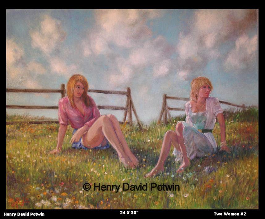 """Two Women #2  - 2006 24X30"""""""