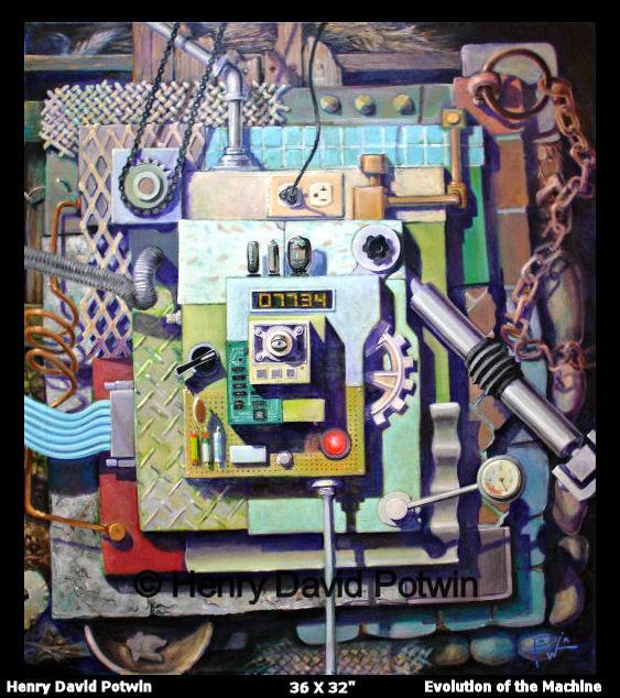 "Evolution of the Machine  - 2006 36X32"""