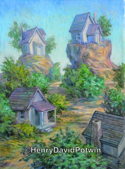 """Cottages - 2016 22X16"""""""