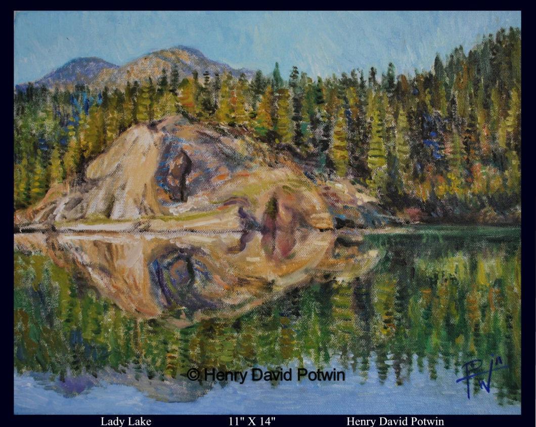 """Lady Lake Study  - 2009 11X14"""""""